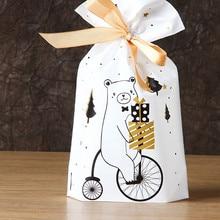 3/5 шт Санта Рождественский подарок мешок конфеты драже сумка-кисет, рождественские украшения для дома, Noel год Подарки