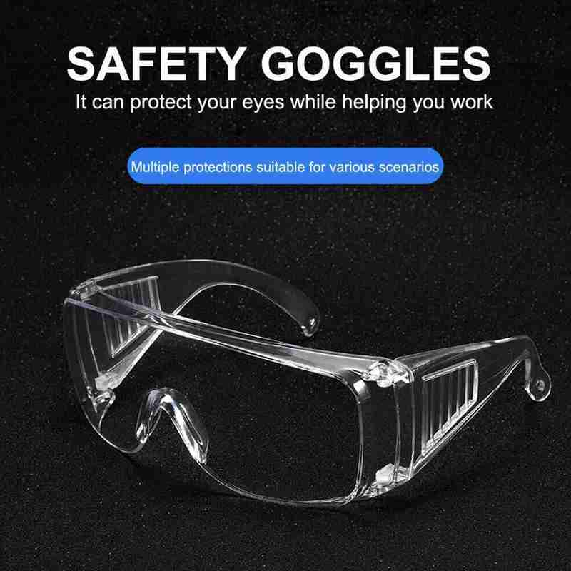 1PC Transparent Unisex PC Safety Protective Dustproof Glasses Beauty Instrument Goggles For Laboratory