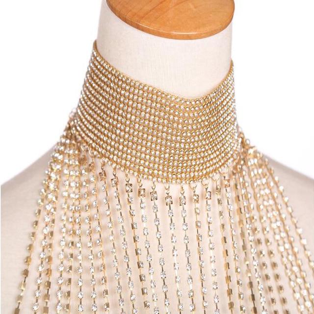 роскошное стразы свадебное ожерелье ручной работы с хрустальным фотография