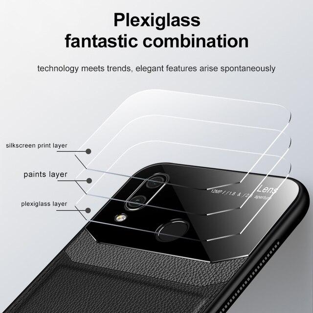 Funda para teléfono Xiaomi Redmi Note 7 de piel sintética de plexiglás de silicona a prueba de golpes para Xiomi Redmi Note8 8 Pro Plus