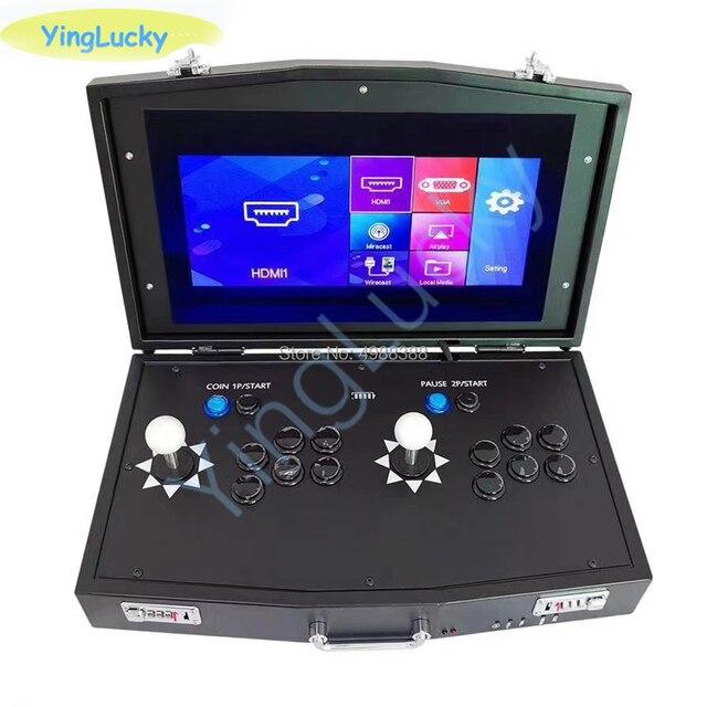 جديد الأصلي باندورا بوكس DX 3000 في 1 عصا التحكم أركيد صغيرة دعم 2 اللاعبين أجهزة عرض الكمبيوتر fba mame ps1 لديها ألعاب ثلاثية الأبعاد