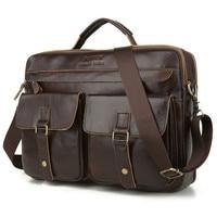 حقيبة أعمال من الجلد الطبيعي للرجال ، حقيبة عمل غير رسمية باللون الأسود ، حقيبة حمل بني ، سعة كبيرة ، 2021