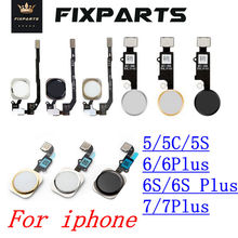 New For Iphone 5S Home Button with Flex Cable for iPhone 5 5C 5S 6 6Plus 6s plus 7 7Plus Home button Flex Assembly Sensor Ribbon цены