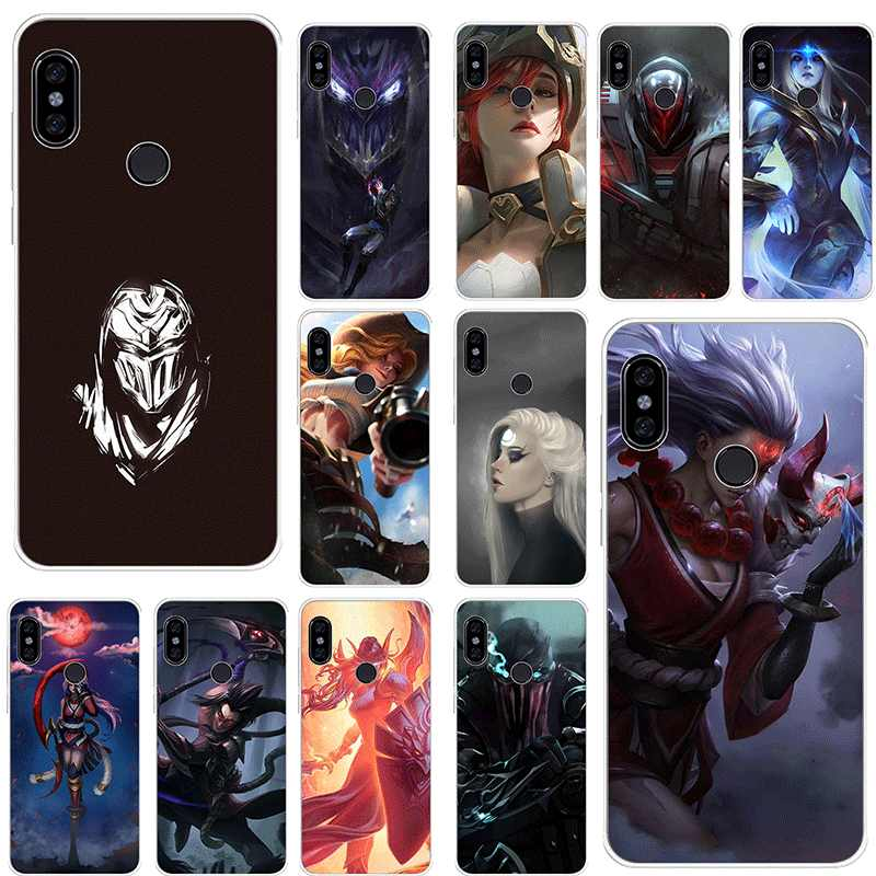 Mobiele Telefoon Case voor Xiaomi Redmi Note 8 6 7 5 Pro Xiaomi 4 4X 5A Cover League of legends cool Leuke