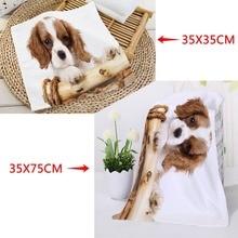 Washcloth Towels 35x35cm Custom Absorbent-Drying Microfiber Dog-Printed Cocker Square
