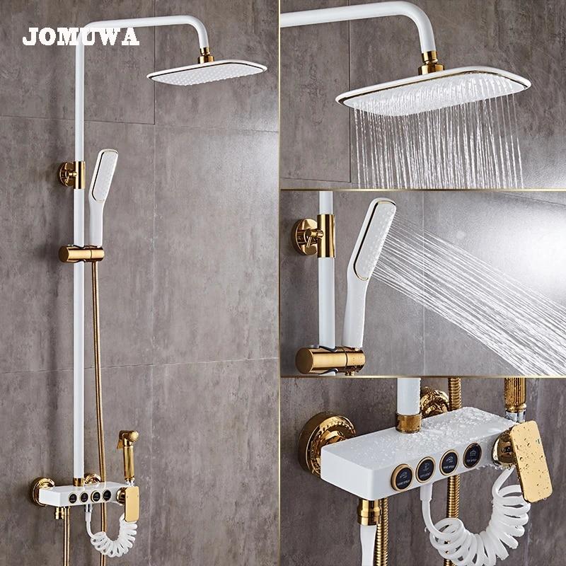 bathroom luxury black white golden shower set shower antique gold shower set bathroom black color shower faucet bathtub faucet