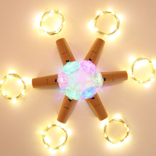 Wine Bottle String Lights Cork Shaped Led for Bottles Decor Wedding Party Garland Solar/battery/usb