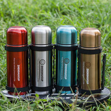 Outdoor travel sports bottle 1.2L large capacity stainless steel double vacuum cupboard car pot