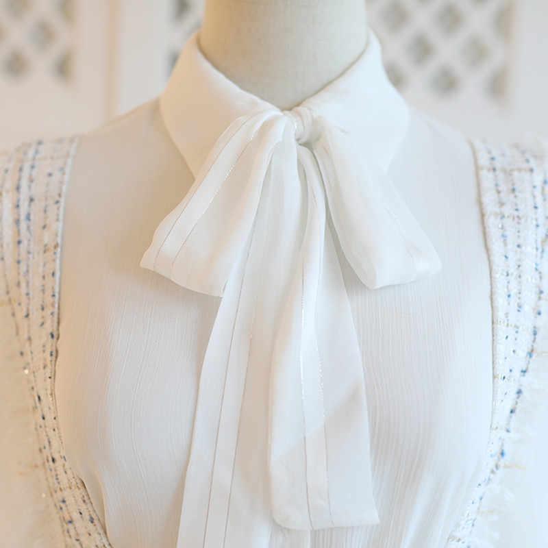 SWEETXUE חדש סתיו החורף אלגנטי נשים חליפת מוצק צבע קשת חולצה למעלה מצויץ כיס טוויד רצועת צמר מיני חצאית 2 חתיכה סט