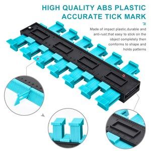 Image 3 - 1 шт. 20 дюймовый контурный манометр, дубликатор пластиковых профилей, копировальный манометр для плитки, дерева, инструмент для разметки плитки, ламината, плитки, инструменты общего назначения