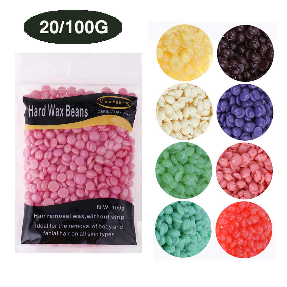 20/100g Depilatory Wax Beans Pellet Brazilian Beans Body Beauty Hair Removal No Strip Legs Epilation Waxing Beads