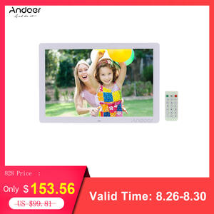 Andoer Advertising-Machine Digital-Photo-Frame MP4 MP3 LED Clock with Remote-Control