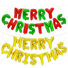 New Year Merry christmas aluminum balloon 16-inch DIY Christmas Bar Mall decorated with balloons Letter Balloons ZB247