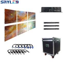 Новый под ключ полный P6 открытый светодиодный видео стена 6 панелей система посылка