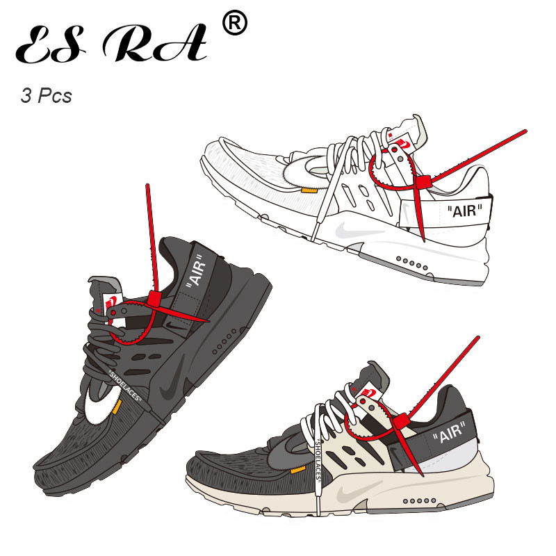 10CM Off -white Stickers Sneakers Waterproof PVC Pegatinas Shoes Cool Stickers For Laptop Skateboard Guitar Joural Bridge Decora
