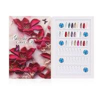 96 Colors Professional Model Nail Gel Polish Color Display Box Book Dedicated 96 Color Card Chart Painting Manicure Nail Art
