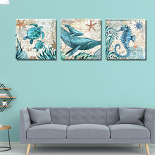 Jellyfish Print Canvas Painting The Underwater World Wall Home Decor Poster Nordic Posters And Prints Blue Ocean Wall Pictures