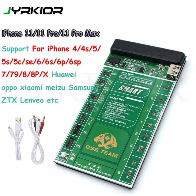 Jyrkior Voor Iphone 11Pro Max X Xr Xs Max/Samsung Batterij Tester/Lader Opladen Activering Printplaat Tester digitale Display