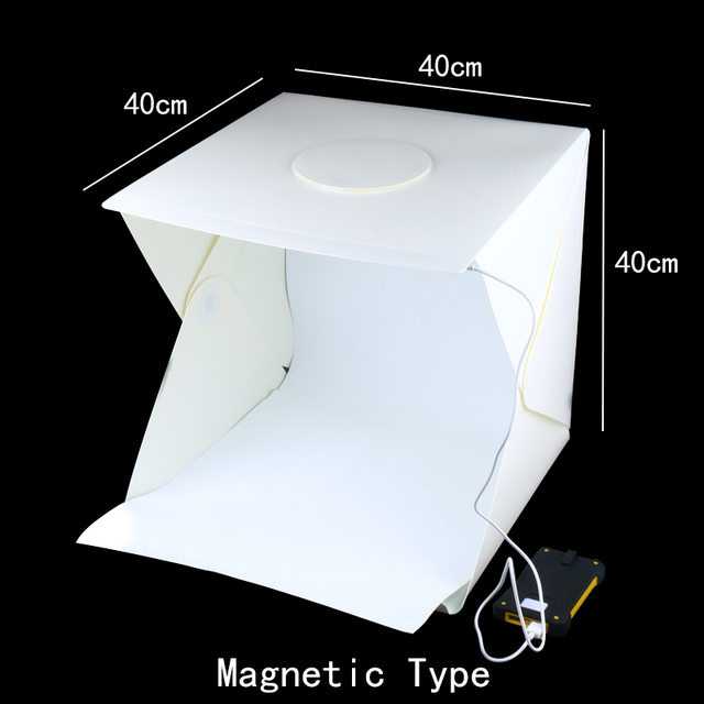 40x40x40 cm תמונה תיבת סטודיו צילום רקע תאורה מובנה תמונה תיבת קטן פריטים צילום תיבת סטודיו אבזרים