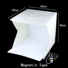 Caja de estudio fotográfico de 40x40x40 cm, Fondo de fotografía con luz integrada, caja de fotos, artículos pequeños, accesorios para estudio fotográfico