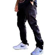 Cargo Pants Men 2020 Kanye Hip Hop Streetwear Jogger Pant Velcro Trousers Gyms Fitness Casual Joggers Sweatpants Men Pants