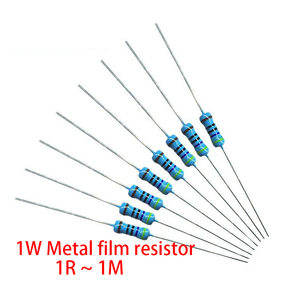 200 шт. 1 Вт металлический пленочный резистор 1% 1R ~ 1 м 2R 10R 22R 47R 100R 330R 1K 4,7 K 10K 22K 47K 100K 330K 470K 1 2 10 22 47 100 330 Ом