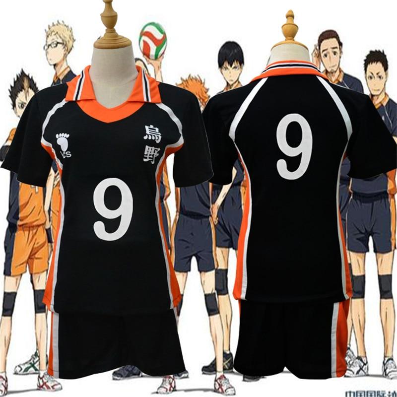 Anime Karasuno High School Cosplay Costumes Haikyuu!! Outfit Jerseys Shirts and Pants Oikawa Kenma Nishinoya Kuroo Karasuno