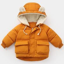 CYSINCOS New Winter Warm Jackets For Baby Girls Clothes Jackets Kids Cotton Hooded Outwear Boys Jacket Children Girls Clothes(China)