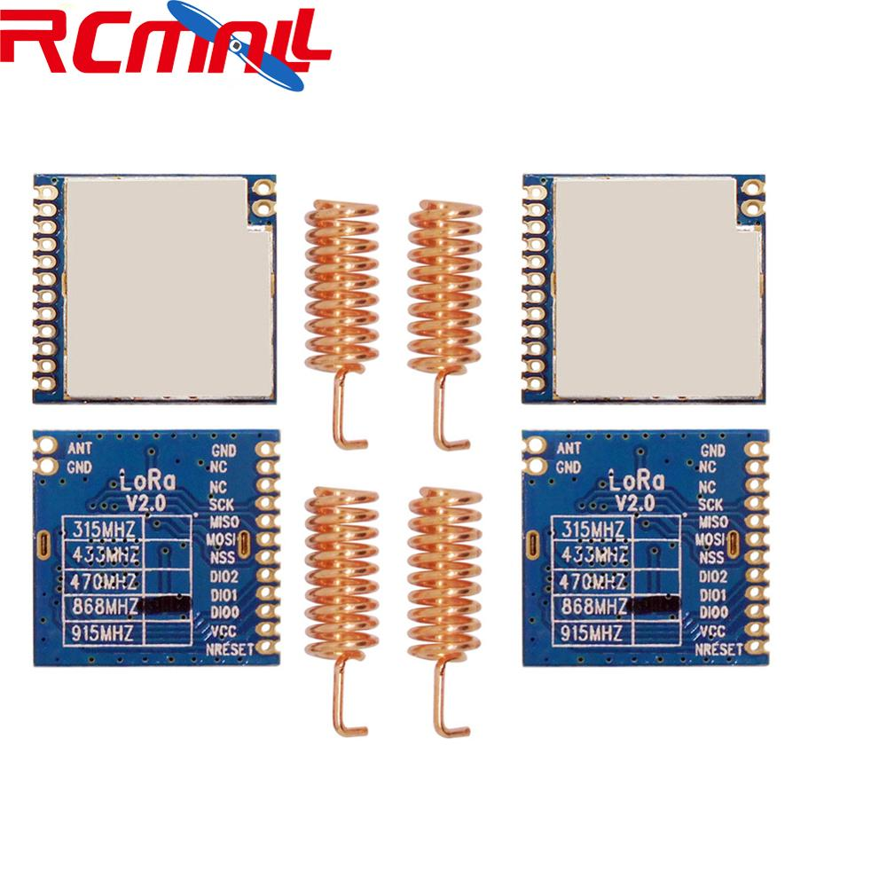 2Pcs/lot 868MHz | 915MHz 100mW SX1276 Chip Long Range 4Km RF Wireless LoRa Module LoRa1276 IOT Internet Of Things