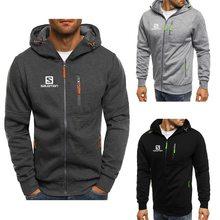 2021 New Autumn Men Jackets Fashion Hoody Jacket S Printed Casual Hooded Coat Zip Cardigan Plus Fleece S-3XL Free shipping