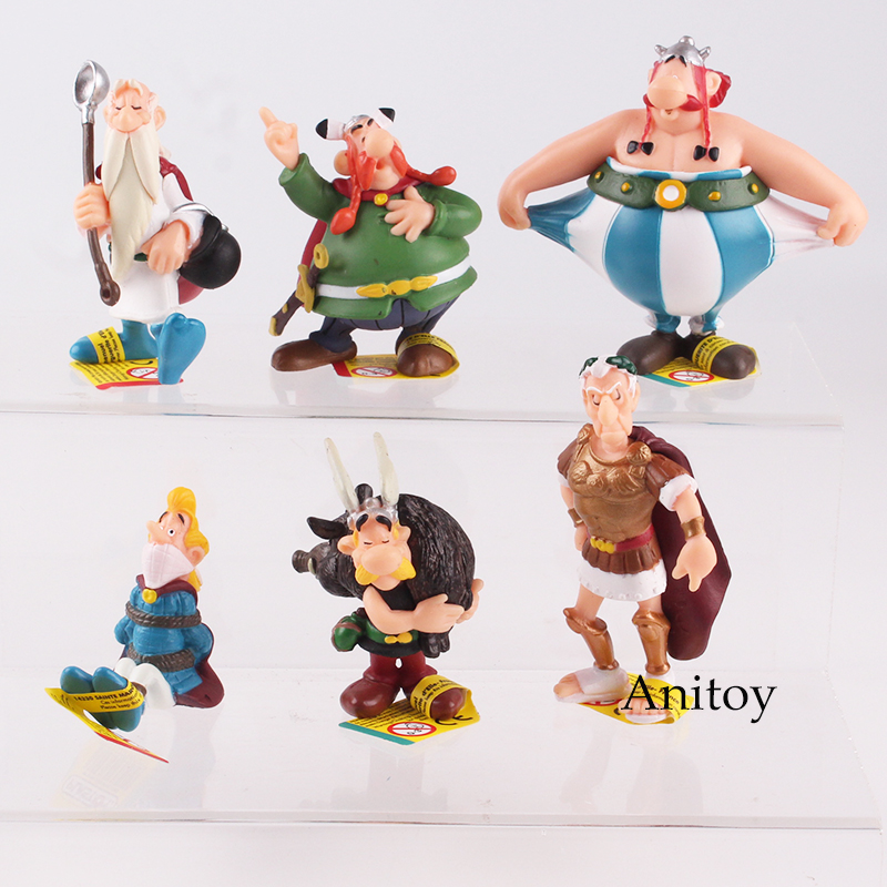 Classic France Cartoon The Adventures Of Asterix PVC Figures Toys Kids Childrens Gifts 6pcs/set