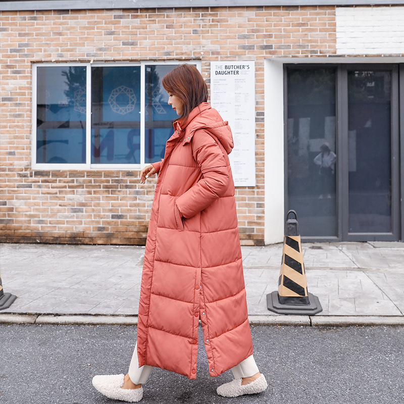 Down   parka   Winter Korean version of mid-long East Gate bread and cotton-padded clothing anti-season coat 913