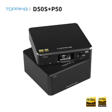 Topping D50s Bluetooth Dac + Topping P50 Lineaire Voeding