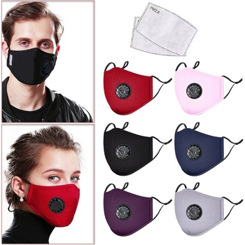 Anti Pollution PM2.5 Mask Dust Respirator Washable Reusable Masks Cotton Unisex Mouth Masks + 2pcs Carbon Filter Pad