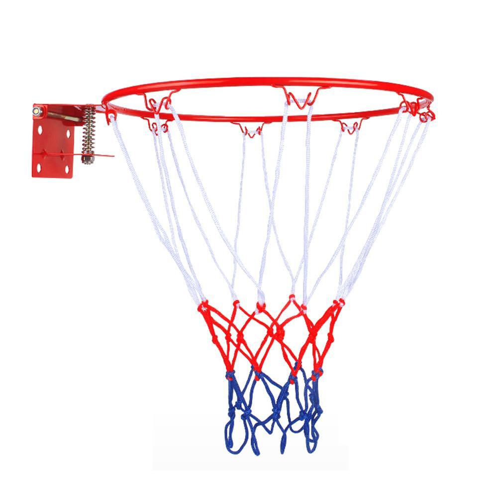 Children's Solid Basketball Frame Spring Basketball Ring Kindergarten Basket Frame Wall-mounted Ring For Indoor And Outdoor