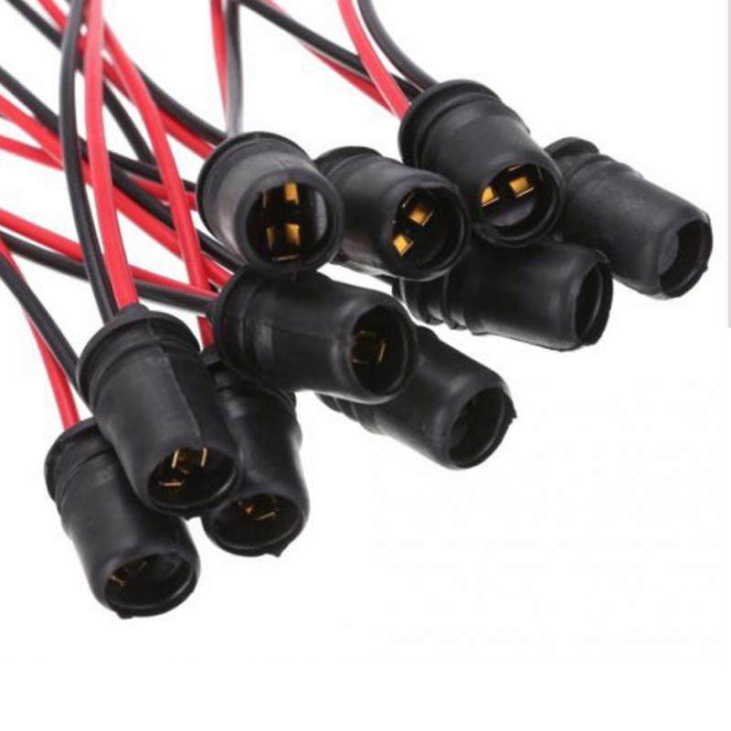 10Pcs T10 รถบรรทุก 5W ยางนุ่มซ็อกเก็ตหลอดไฟผู้ถือโคมไฟเหมาะกับ OEM/LED /SMD ซ็อกเก็ตหลอดไฟ