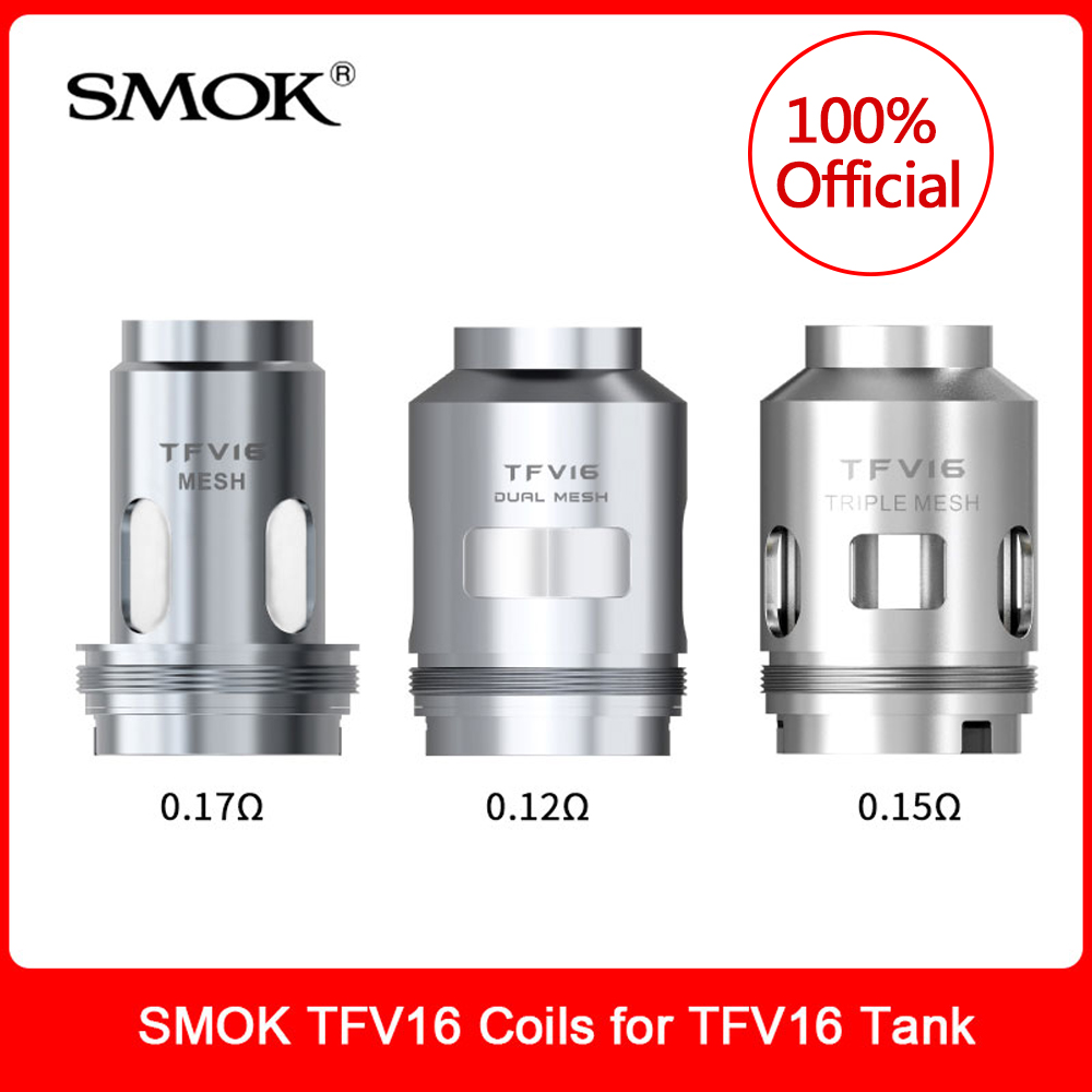 Original SMOK TFV16 Coils Dual Triple Mesh Conical Coil For TFV16 Atomizer Tank 9ml Vaporizer E-Cigarette VS TFV12 Prince Coil