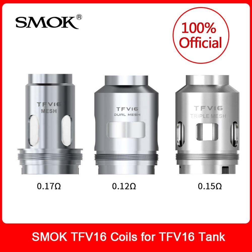 Original SMOK TFV16 Coils Dual Triple Mesh Conical Coil For TFV16 Atomizer Tank 9ml Vaporizer E-Cigarette VS TFV12 Prince Coil