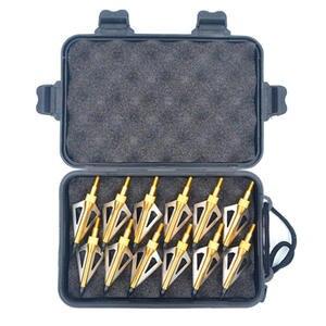 12//20Pcs Hunting Archery Arrow Heads 125Grain 3 Blade Broad Arrow Head With Case