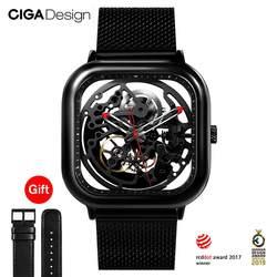 CIGA дизайн Топ Дизайн CIGA часы Автоматические полые механические часы квадратные механические часы мужские модные часы