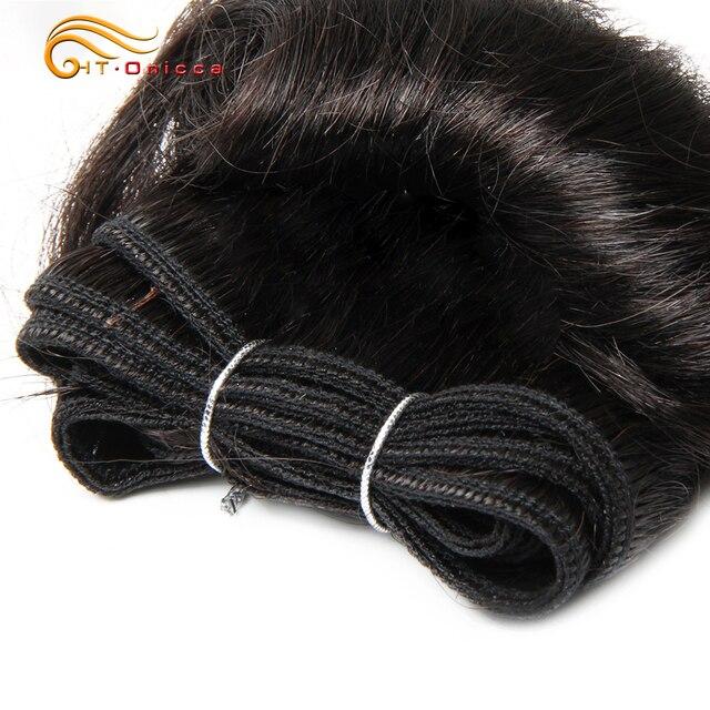 Brazilian Curly Hair Weave Bundles 100% Human Hair 4 Bundles Afro-b 1B 30 Bundles Hair Extension 5 5 6 7 Inch Htonicca Remy Hair 3