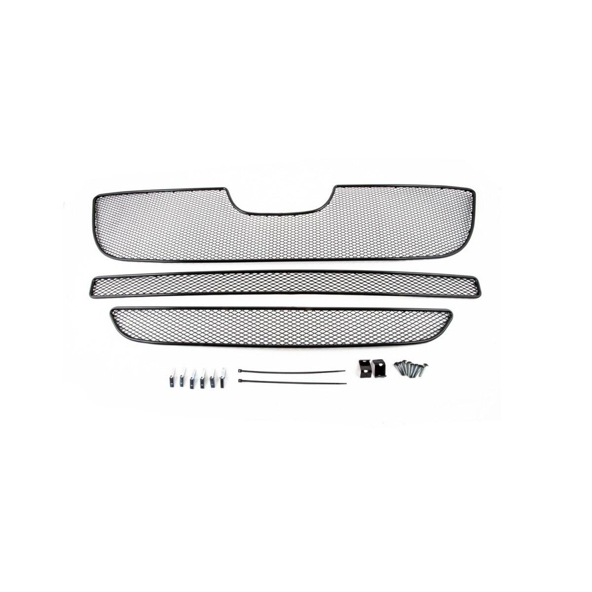 Maglia sulla esterne paraurti per Peugeot Boxer 2007-2014, 3 PCs, nero, 15 millimetri (pugile)