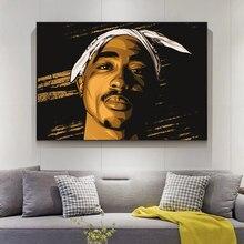 Rapper Stars 2PAC Tupac ritratto dipinti su tela su parete poster e stampe d'arte Tupac immagini su tela decorazioni per la casa Cuadros