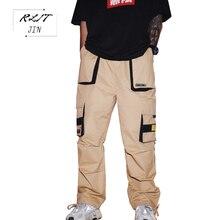 RLJT.JIN 2019 New HipHop Cargo Pants Men Streetwear Pantalones Hombre Jogger Pantaloni Uomo Casual Fashion overalls