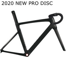 2020 The latest model T1000 pro disc disk brake carbon road frame cycling bicycle racing frameset handlebar stem XDB DPD ship(China)