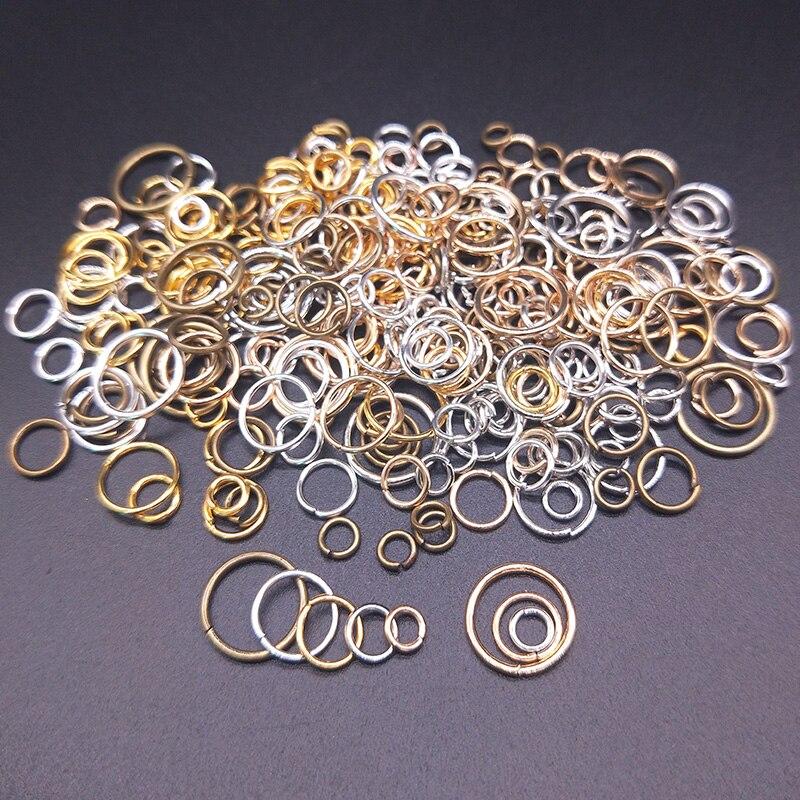 Разъемные кольца-коннекторы, диаметр 4/5/6/8/10 мм, 100 шт., открытые колечки для поделок, аксессуары для изготовления ювелирных изделий, высокое качество, лидер продаж