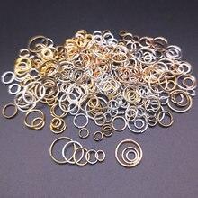Diâmetro 4/5/6/8/10mm 100 pçs anéis rachados conectores abrir salto anéis diy jóias artesanato fazendo acessórios de alta qualidade venda quente