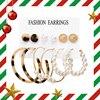 17KM Women Earrings Set Acrylic Pearl Earrings For Women Bohemian Leopard Tassel Stud Earrings 2020 New Brincos Fashion Jewelry 1