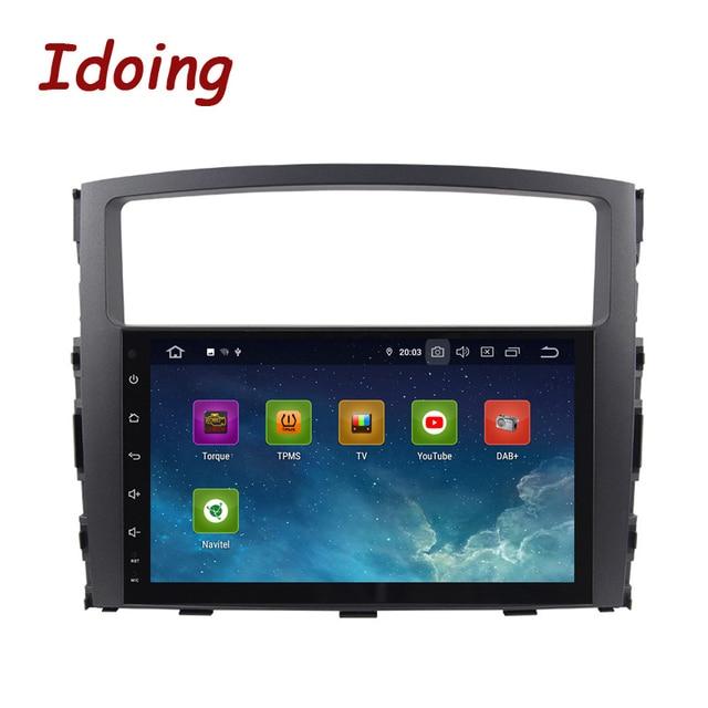 Idoing Android 9.0 4G + 64G Octa Core 2 DIN Cho MITSUBISHI PAJERO V97 2006 2014 Xe Ô Tô đa Phương Tiện Phát Thanh Cầu Thủ HDP GPS + GLONASS Không DVD