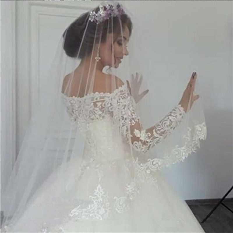 BKW128 белые 2018 винтажные Свадебные платья с длинным рукавом и кружевной аппликацией, свадебные платья со шлейфом, свадебное платье на заказ